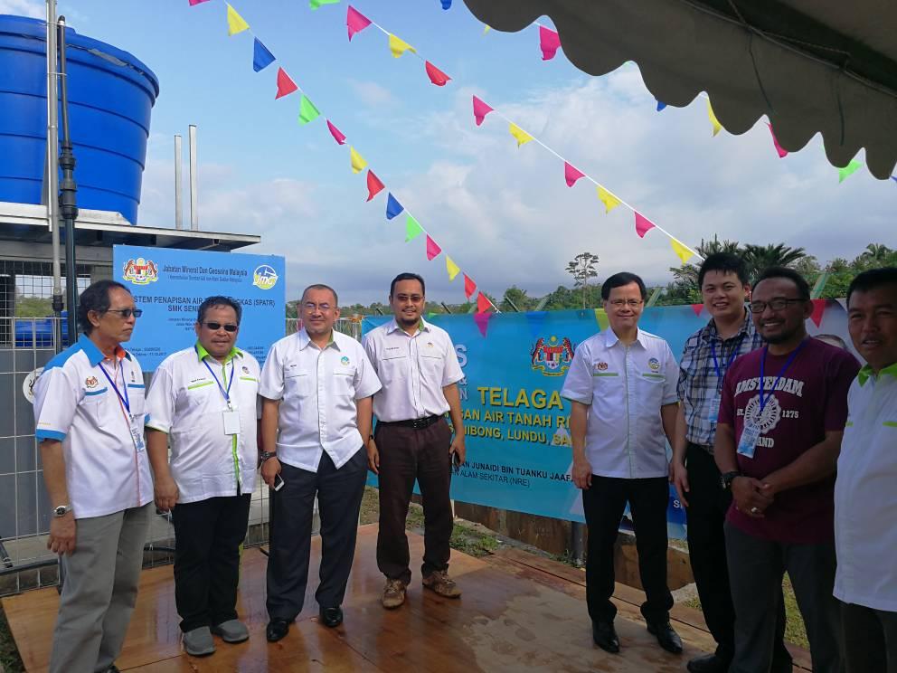 Perasmian Telaga Tiub di Lundu, Sarawak