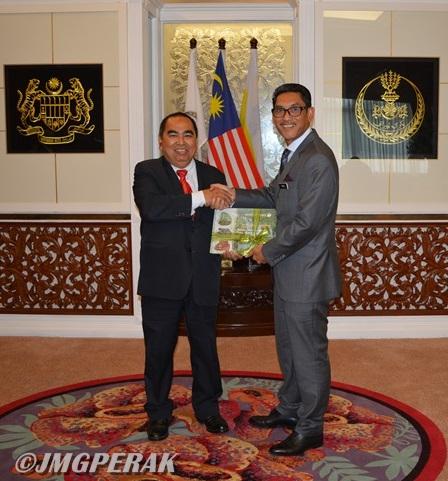 Kunjungan Hormat YBHG. Datuk Haji Shahar Effendi Bin Abdullah Azizi Ketua Pengarah Kepada YAB Menteri Besar Perak, Ahmad Faizal Bin Dato' Azumu