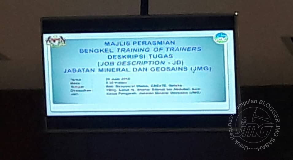 BENGKEL TRAINING OF TRAINERS (TOT) PENYEDIAAN DESKRIPSI TUGAS (JOB DESCREPTION –JD) JMG