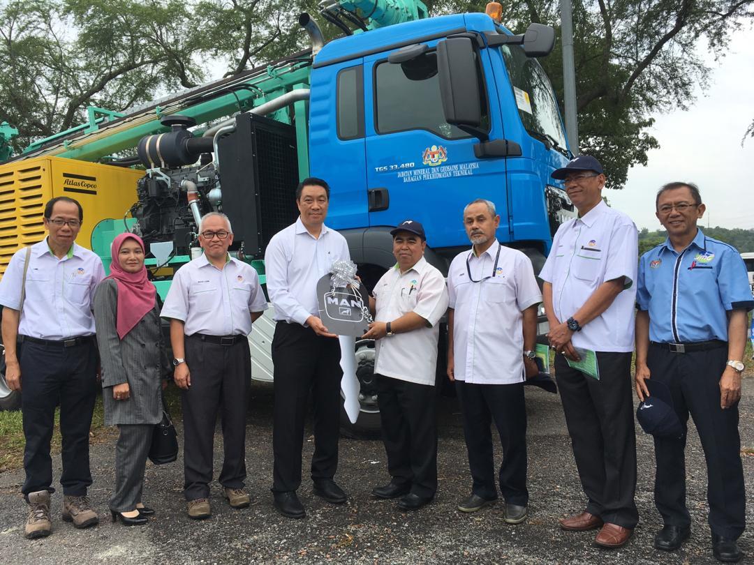 Majlis Perasmian dan Pentauliahan Mesin Gerudi 'Massenza' di Laman Jentera, Maeps, Serdang, Selangor
