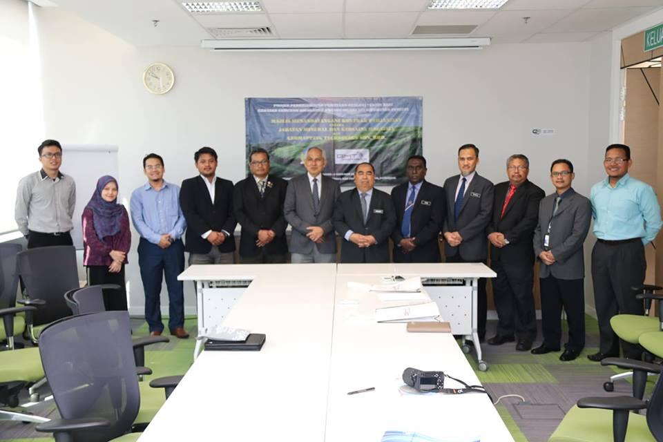 Majlis Menandatangani Kontrak Perjanjian antara JMG dan Geomapping Technology Sdn. Bhd. (GMT) bagi pelaksanaan Projek Perkhidmatan Pemetaan Geologi Terain Kawasan Cameron Highland
