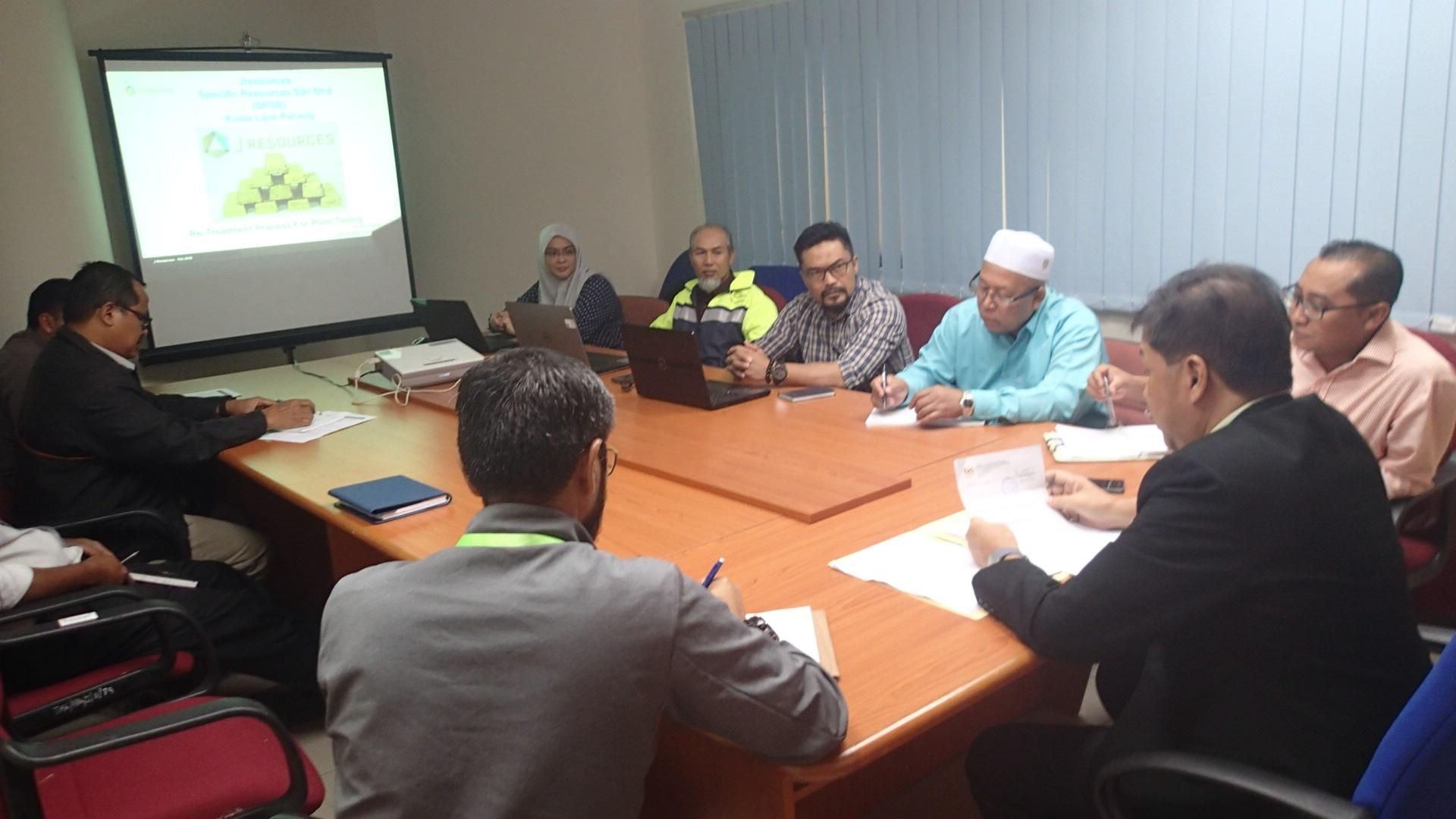 Sesi Taklimat 'Roasting Kiln Penjom Gold Mine, Lipis' oleh J Resources Bhd. di JMG Pahang