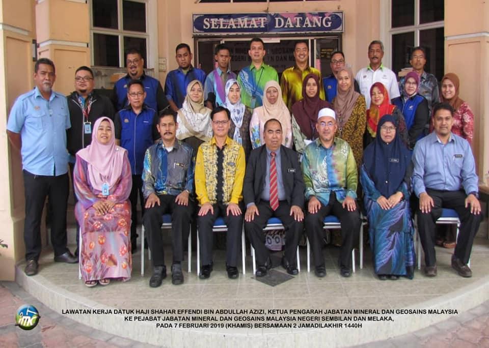 Lawatan Ketua Pengarah JMG Malaysia ke JMG Negeri Sembilan / Melaka