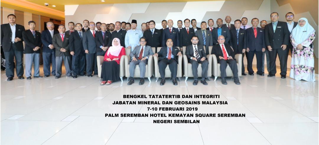 Bengkel Pengurusan Tatatertib dan Integriti Jabatan Mineral dan Geosains Malaysia