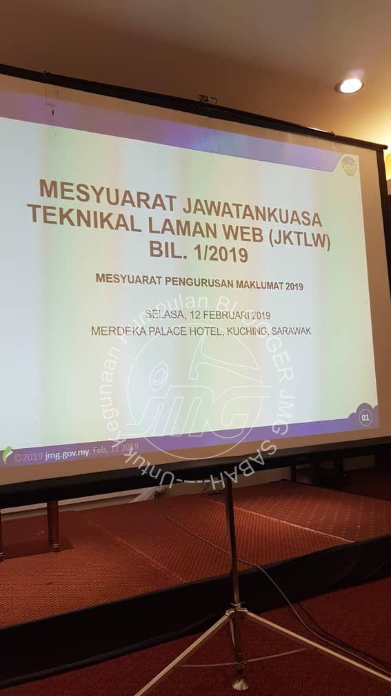 MESYUARAT JAWATANKUASA TEKNIKAL LAMAN WEB (JKTLW) BIL. 1/2019