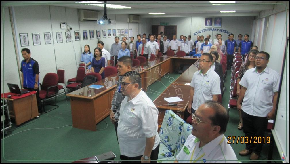 Majlis Perhimpunan Bulanan Jabatan Mineral dan Geosains Sabah (JMG) Bil. 3/2019 dan Majlis Perpisahan Pegawai