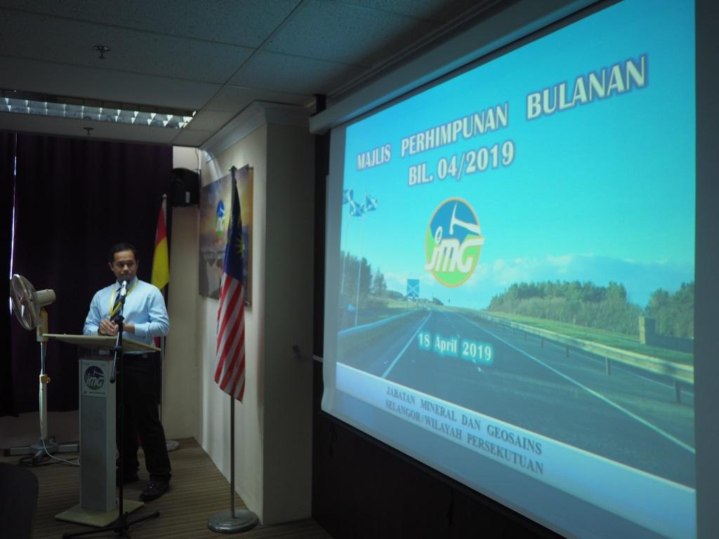 MAJLIS PERHIMPUNAN BULANAN JMGSWP BIL. 04/2019
