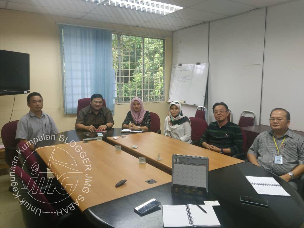 PERBINCANGAN POTENSI MINERAL DI ANTARA JMG SABAH DAN ARAS KUASA SDN BHD.