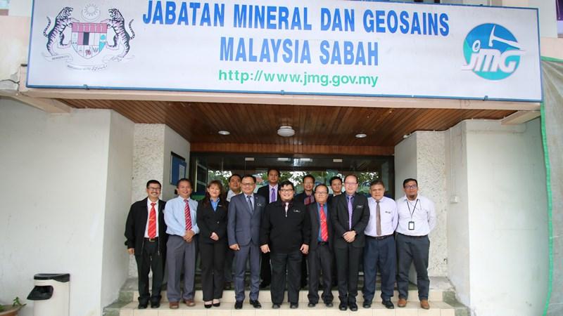 Lawatan Rombongan Pejabat Hasil Bumi ke Pejabat Jabatan Mineral dan Geosains Malaysia, Sabah
