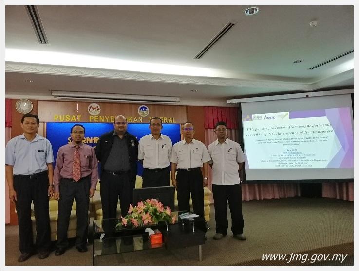 Syarahan Teknikal Projek Kolaborasi FRGS USM-PPM