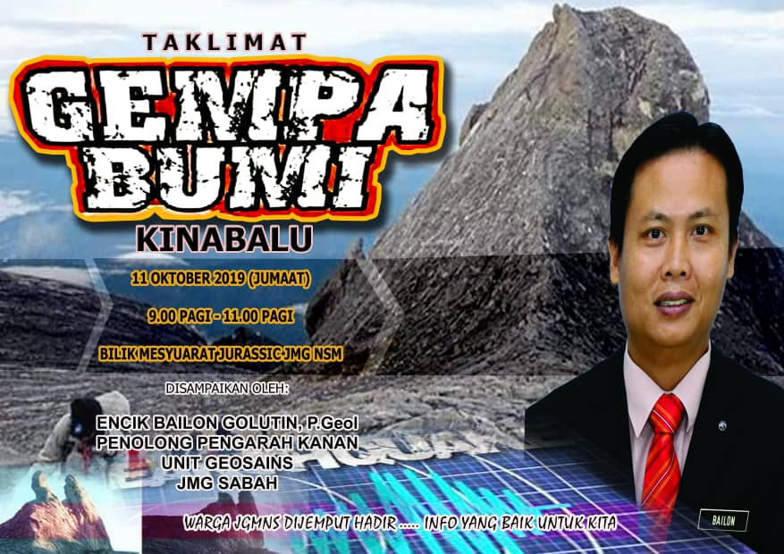 Taklimat Gempa Bumi Kinabalu