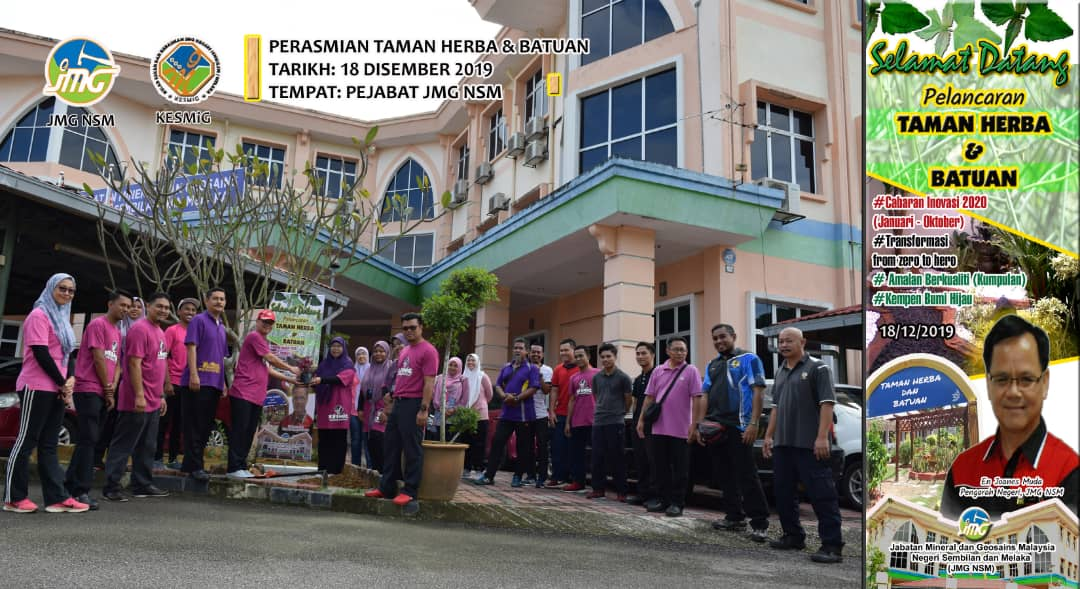 Perhimpunan Bulanan, Sambutan Hari Sukan & Perasmian Taman Herba & Batuan JMG NSM