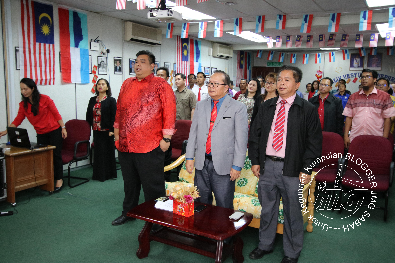 MAJLIS PERHIMPUNAN BULANAN BIL 1/2020 ANJURAN UNIT PENGURUSAN MAKLUMAT JMG SABAH