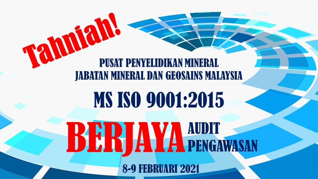 PPM Sekali Lagi Berjaya Melepasi Audit Pengawasan MS ISO 9001:2015
