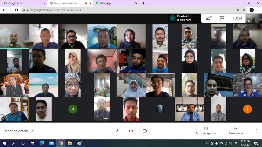 MAJLIS PERHIMPUNAN BULANAN BIL 2/2021 JMG JOHOR SECARA MAYA