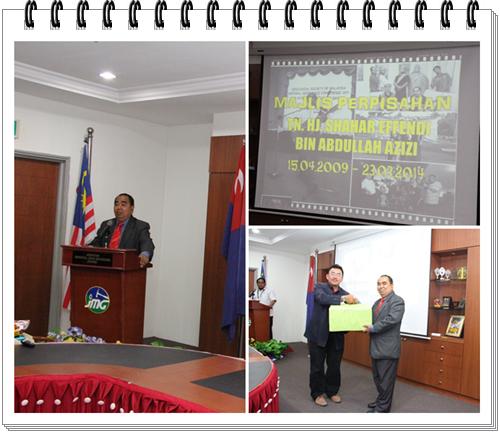 Majlis Perpisahan Pengarah JMG Johor, Tuan Haji Shahar Effendi bin Abdullah Azizi