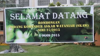 Lawatan Sidang Komander Askar Wataniah (SKAW)