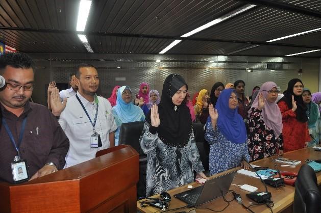 Laporan Perhimpunan Bulanan JMG Ibu Pejabat Bil. 9/2016
