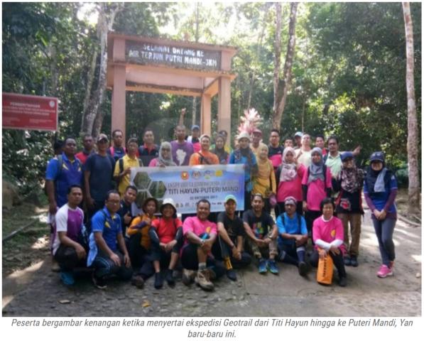 45 peserta sertai ekspedisi Geotrail Titi Hayun, Geopark Jerai