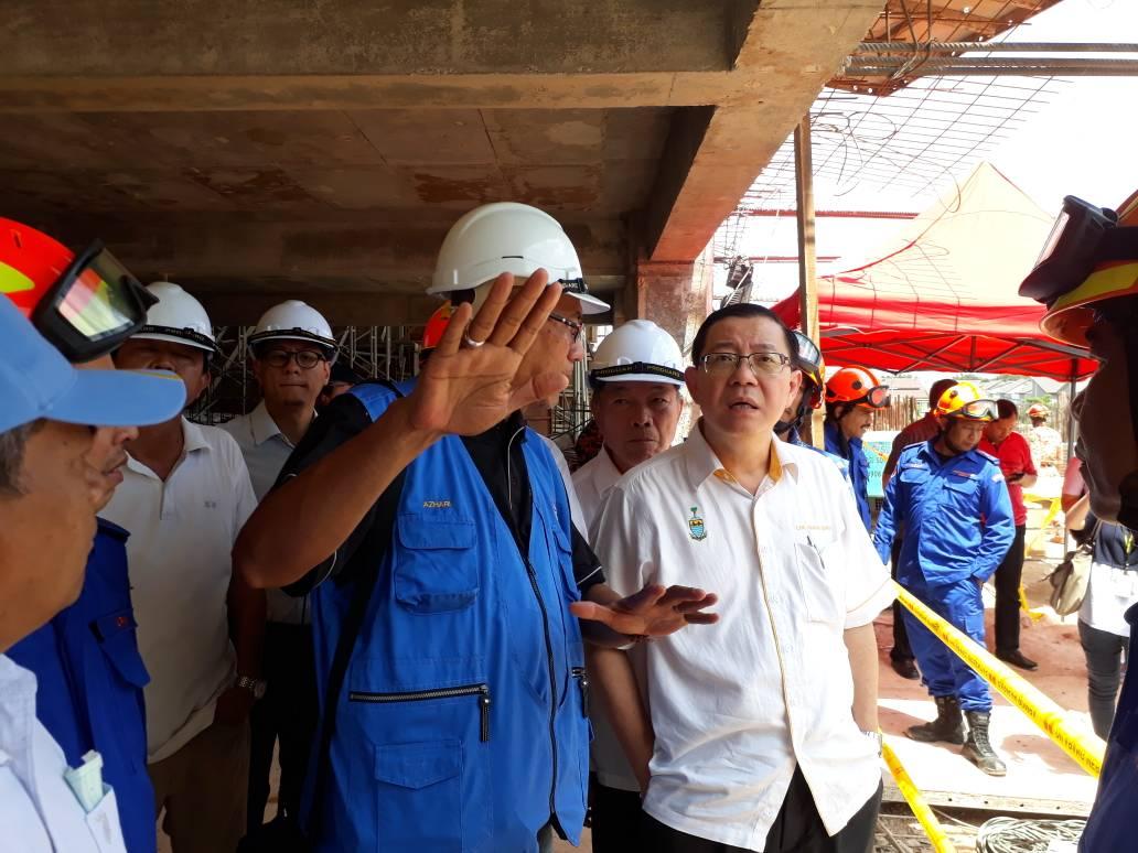JMG KPP turun padang ke lokasi tanah runtuh Tanjung Bungah