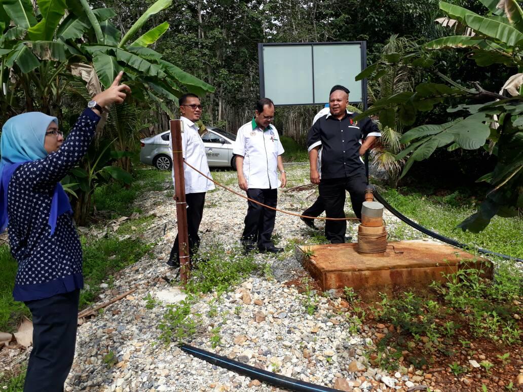 Lawatan NRE Ke Tapak Projek Telaga Air Tanah di Kedah